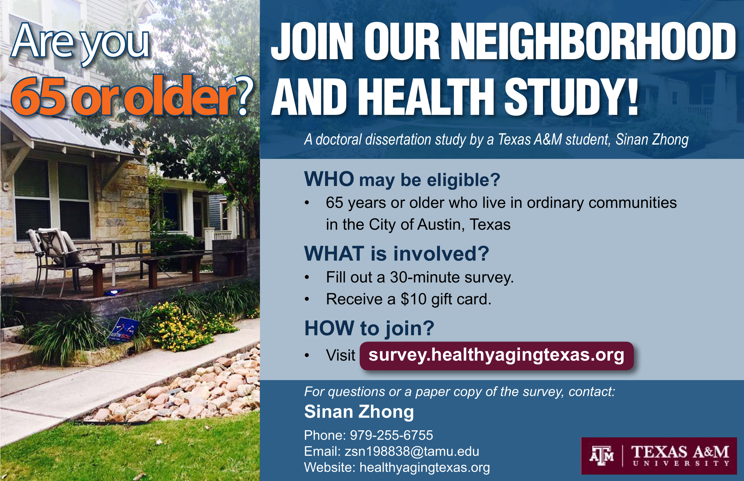 Participants Wanted: Neighborhood and Health Study - Friends of